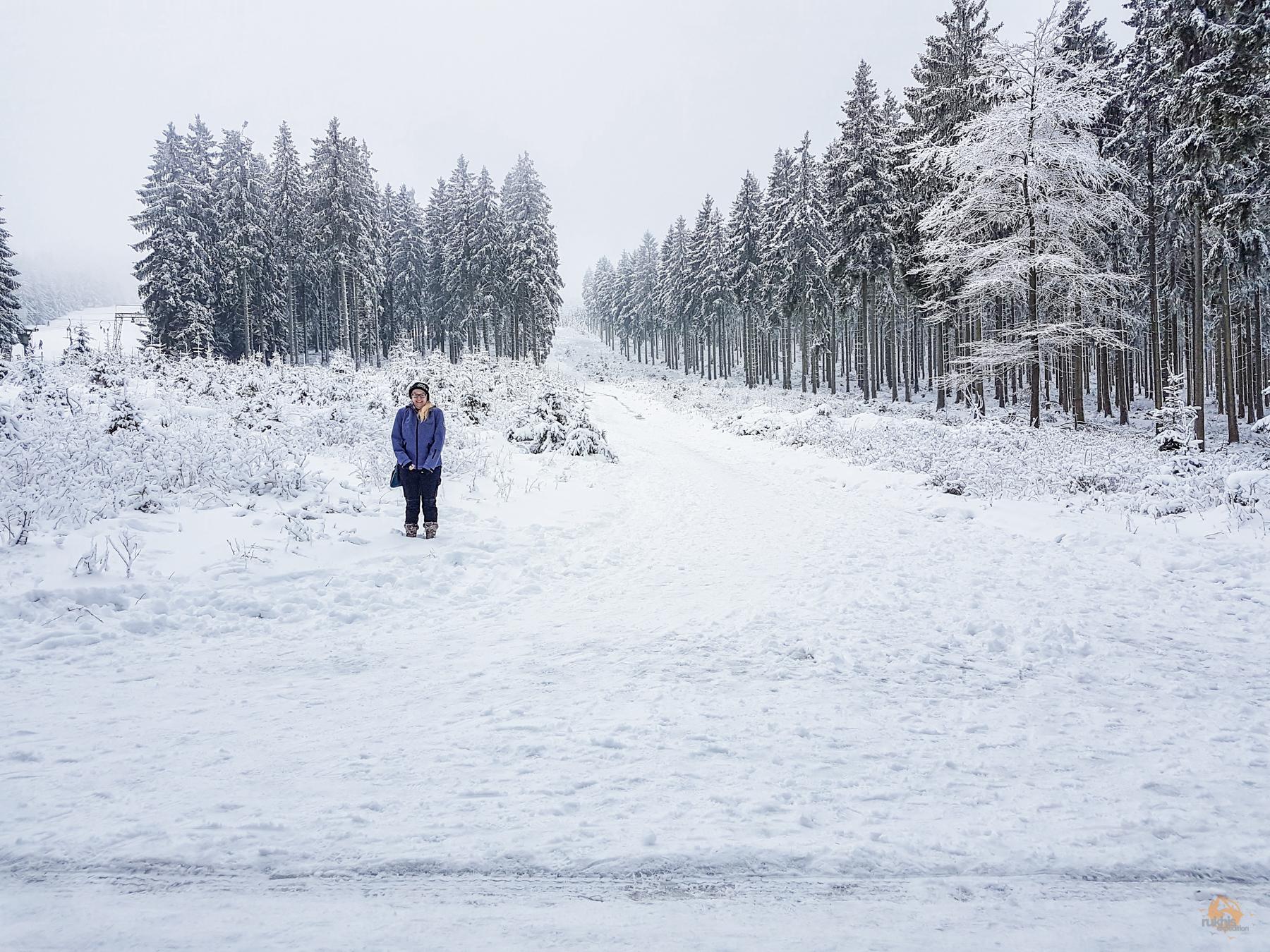 Schnee auf dem Erbeskopf | Nationalpark Hunsrück-Hochwald