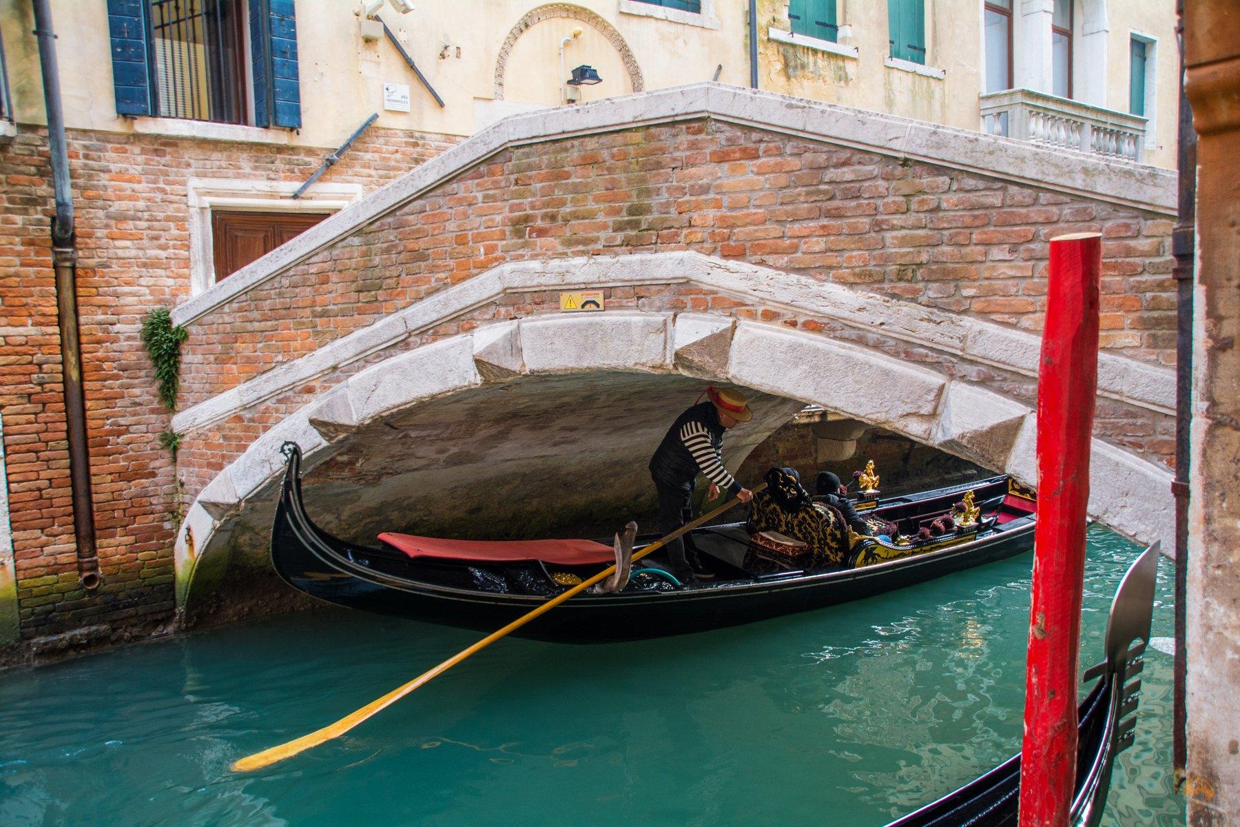 Gondoliere in Venedig - Italien
