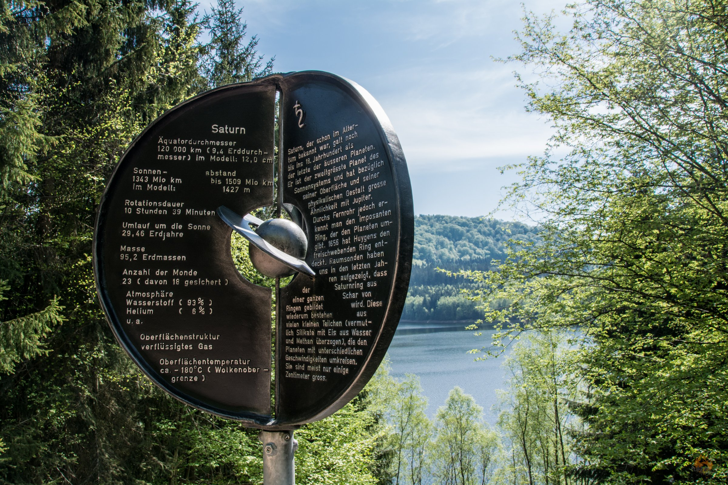 Seerundweg Primstalsperre mit Planetenwanderweg Saarland