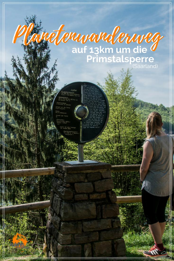 Planetenwanderweg rund um die Primstalsperre im Saarland