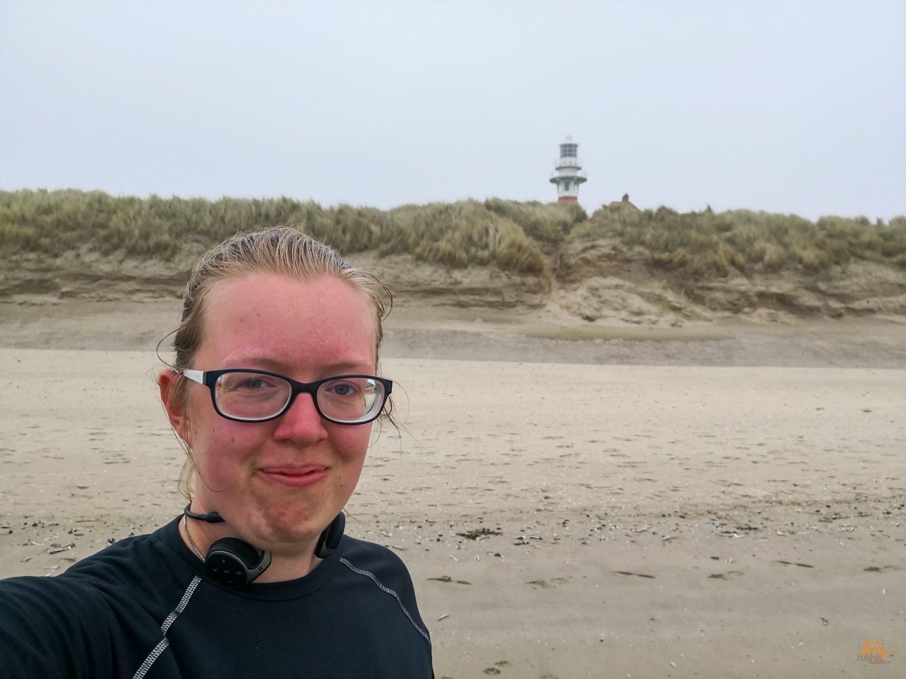Schnappschüsse von der belgischen Küste - Joggen am Strand - Westende