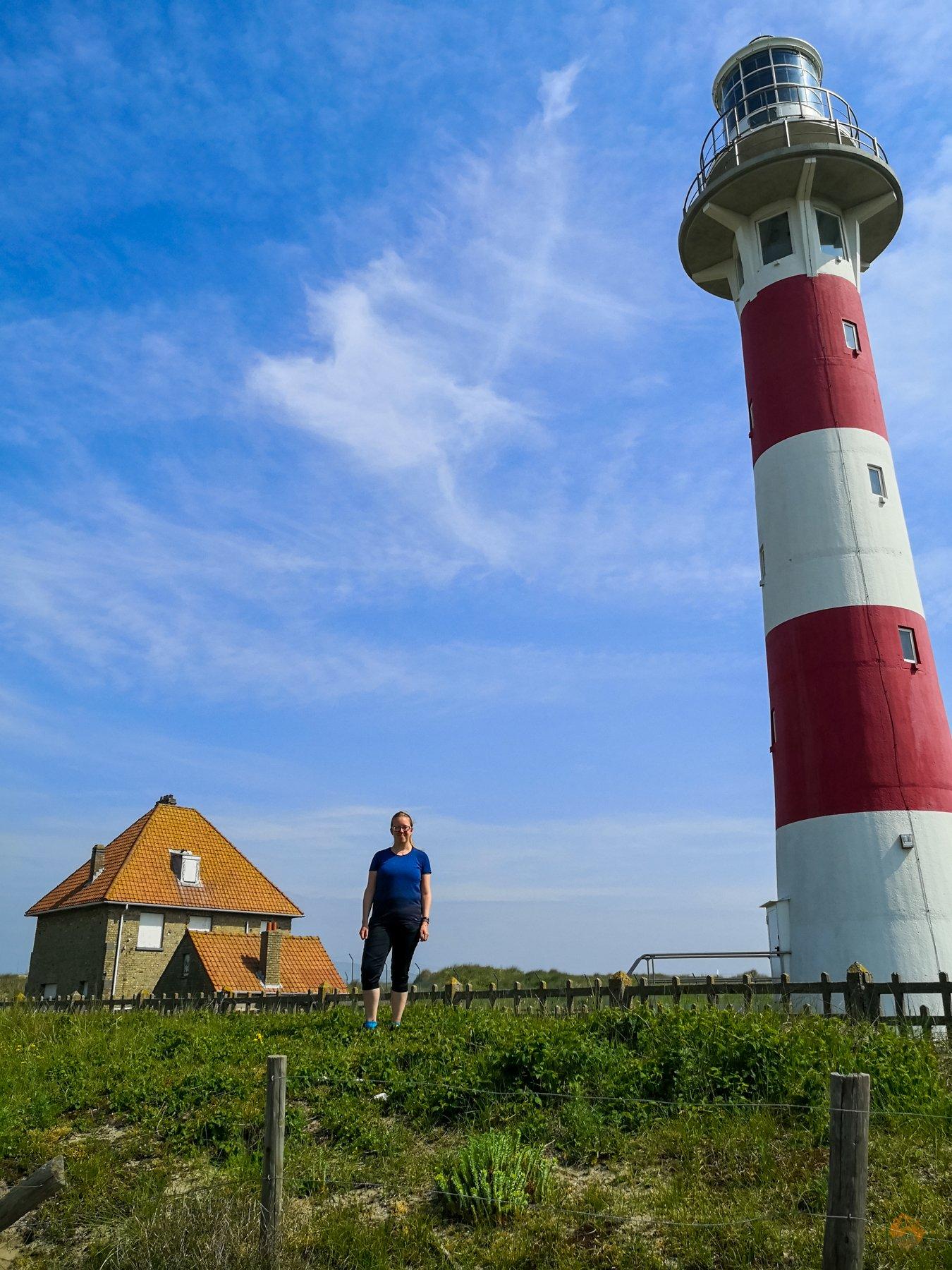 Schnappschüsse von der belgischen Küste - Westende - Nieuwpoort - Leuchtturm