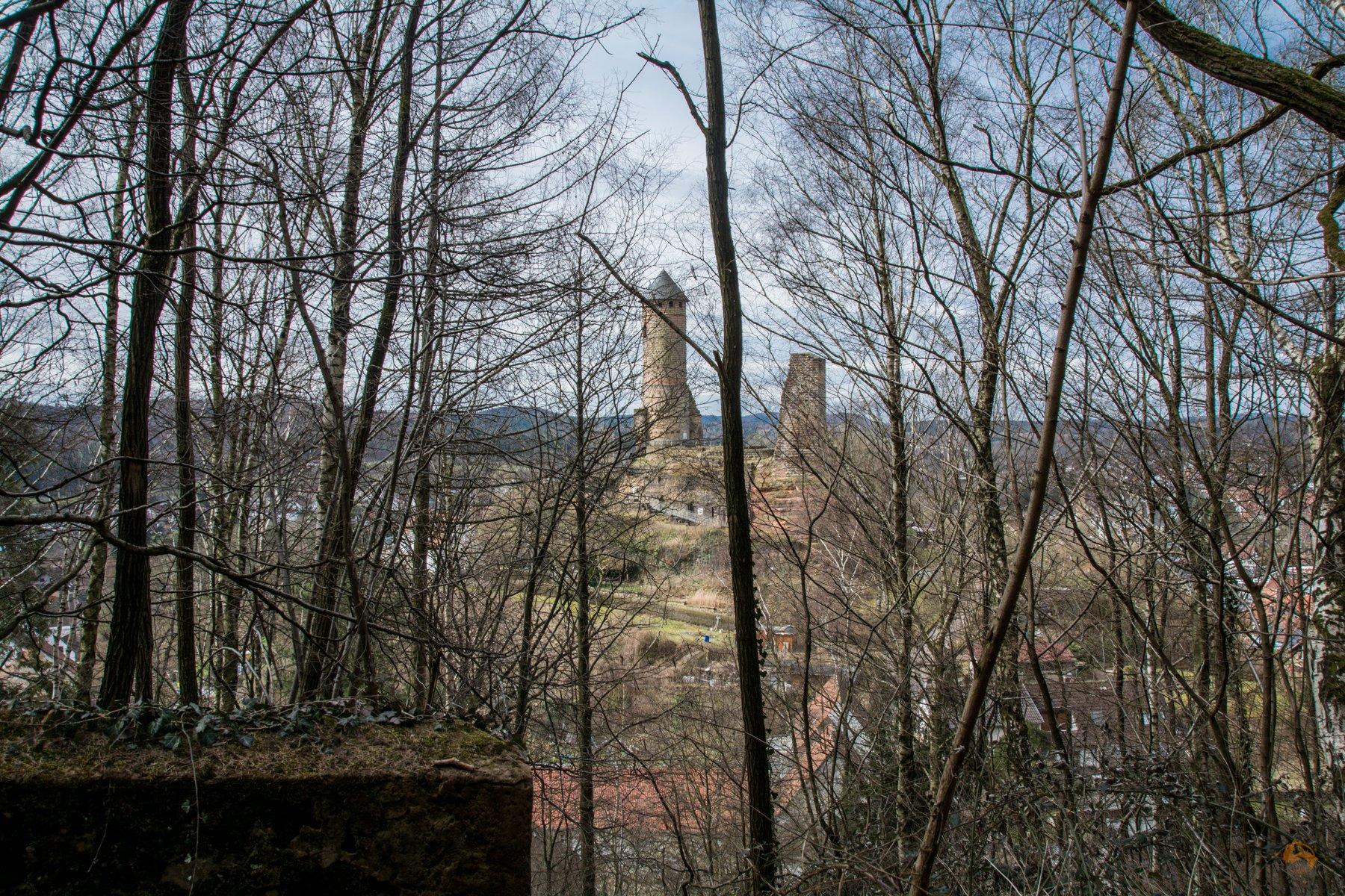 Wandern im Saarland - Kirkel Felsenpfad - Burg