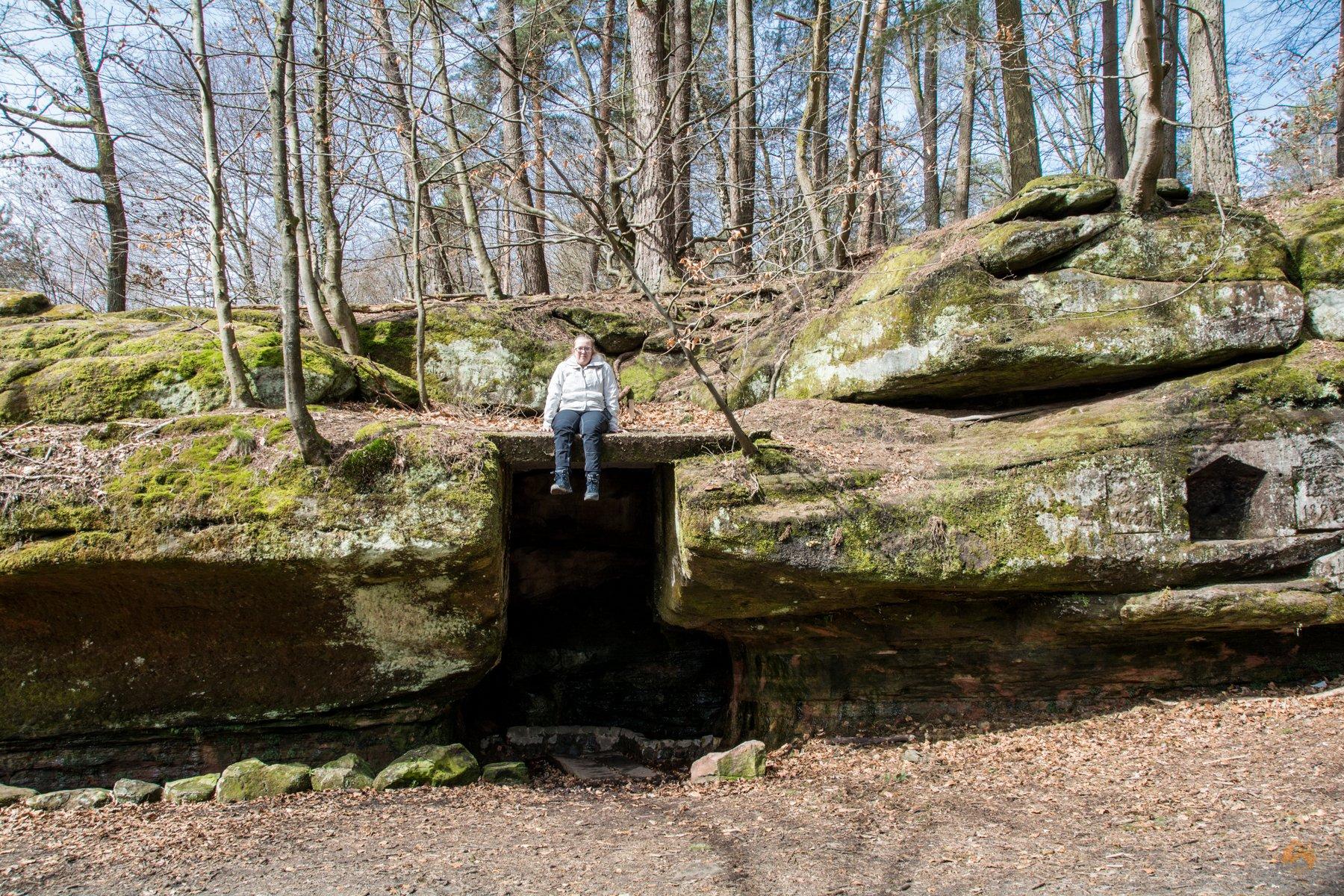 Wandern im Saarland - Kirkel Felsenpfad - Frauenbrunnen