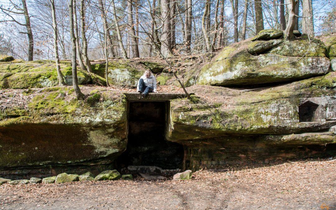 Eine kleine Zeitreise auf dem Felsenpfad in Kirkel (Saarland)