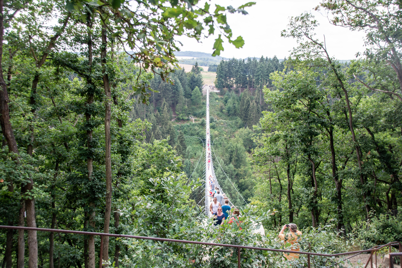 Geierlay Hängeseilbrücke im Hunsrück - Rheinland-Pfalz