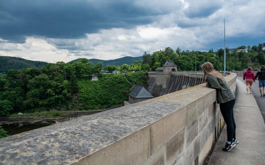 Ein paar Eindrücke von der Edertalsperre | Regen im Anmarsch auch auf der zweiten Sauerland Expedition