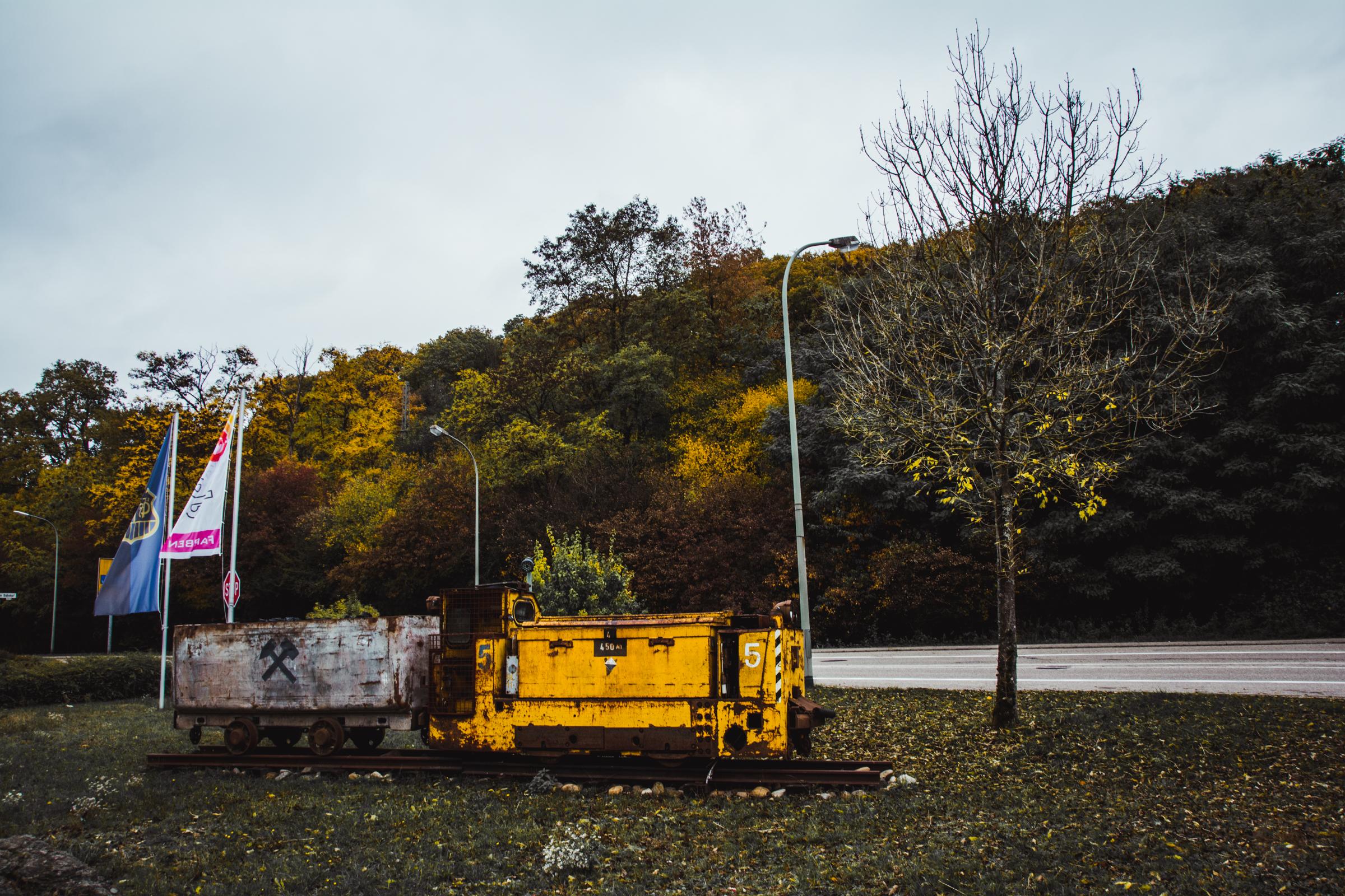 Grubenhund | Grubenlok | Quierschied | Bergbau im Saarland
